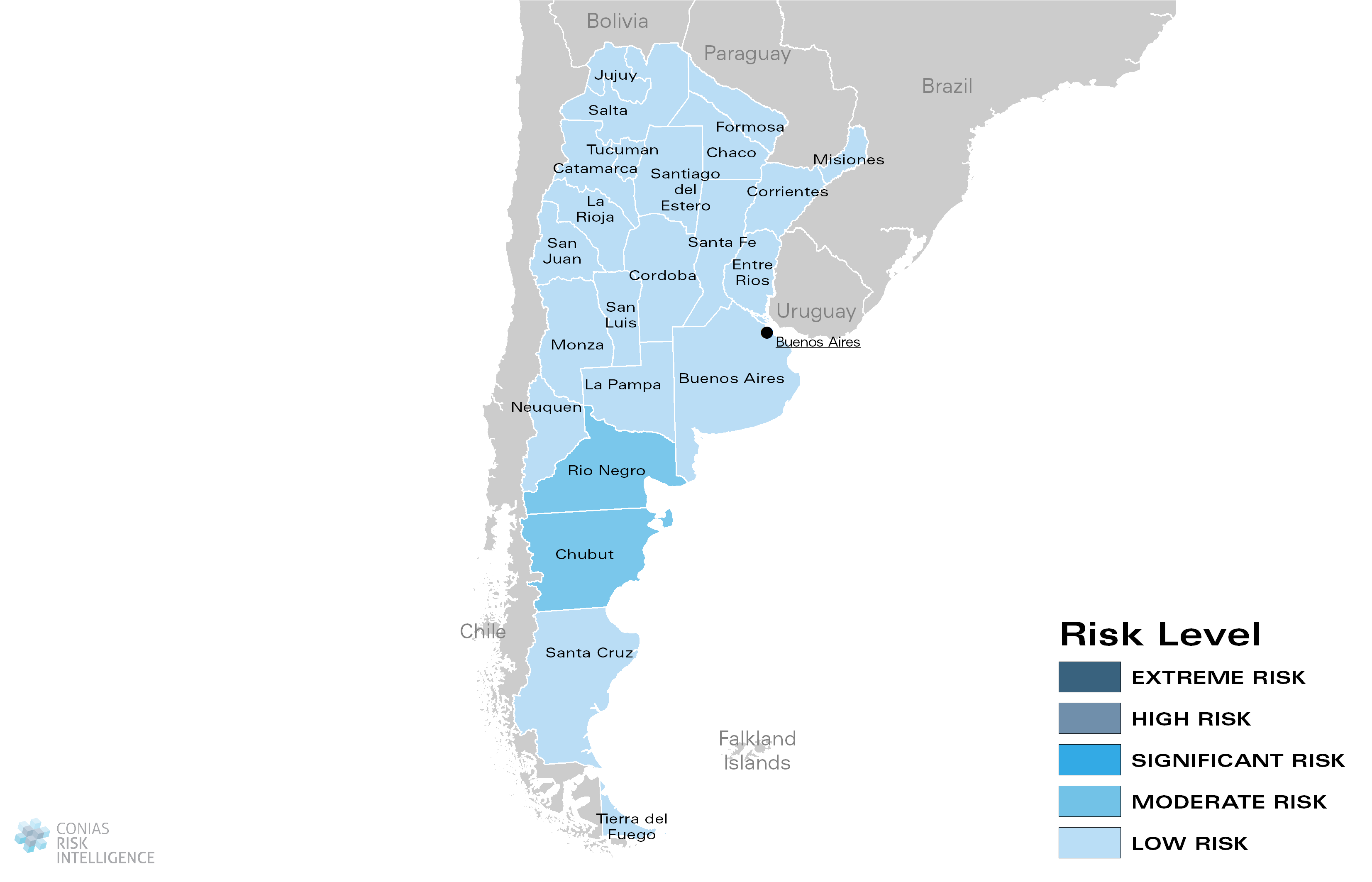 CONIAS Political Risk Map Argentina