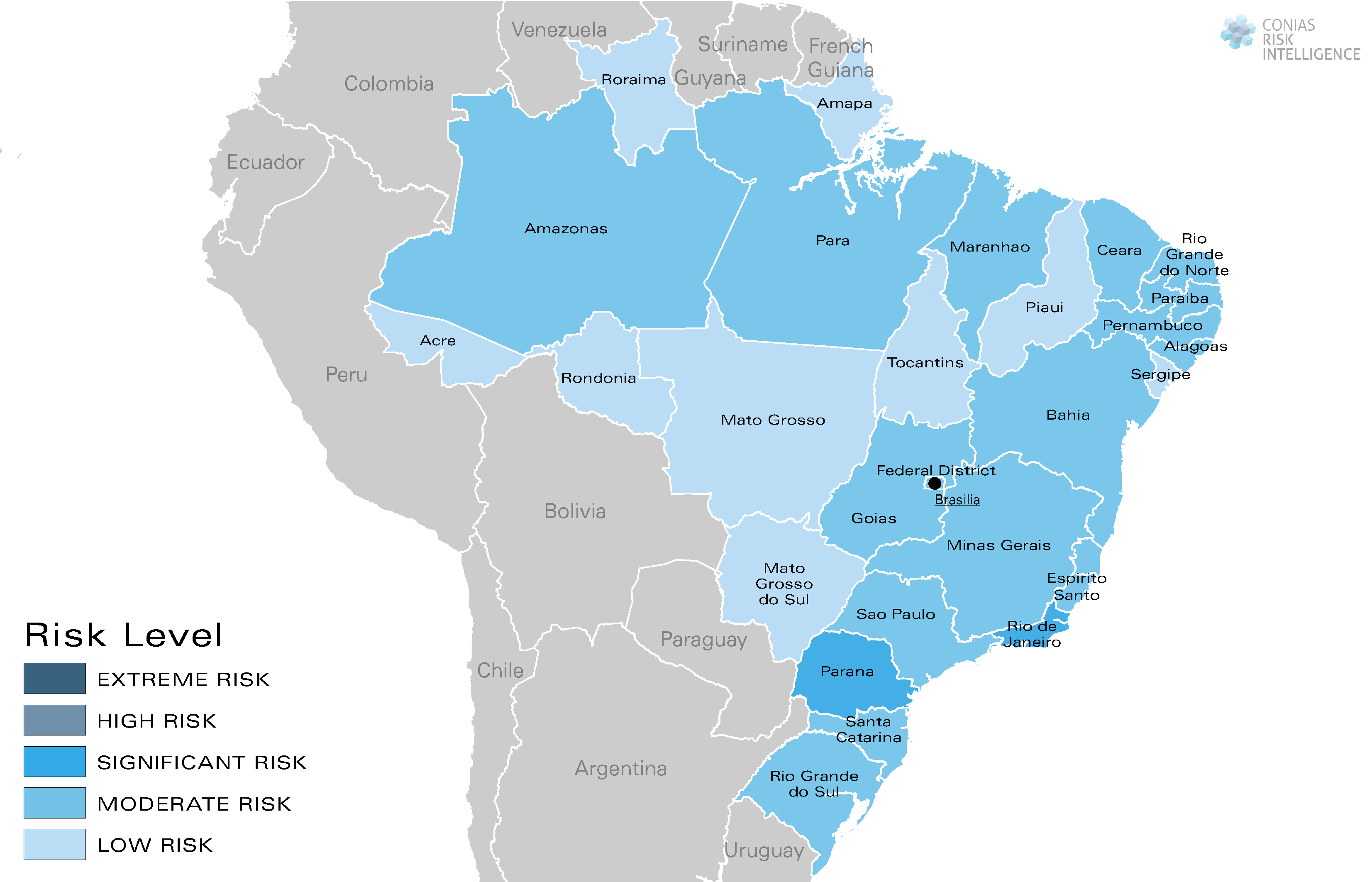 CONIAS Political Risk Map Brazil