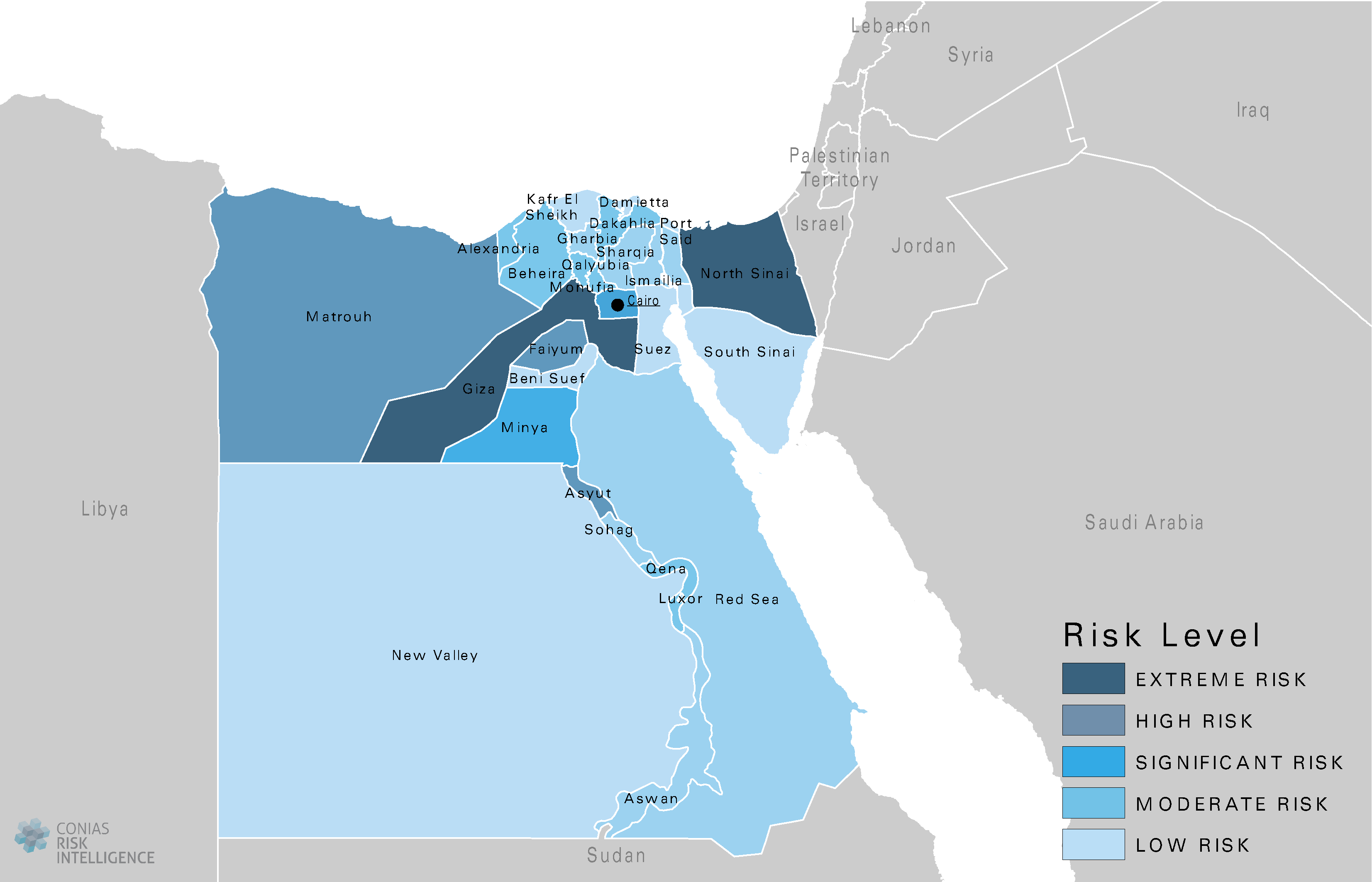 CONIAS Political Risk Maps Ägypten
