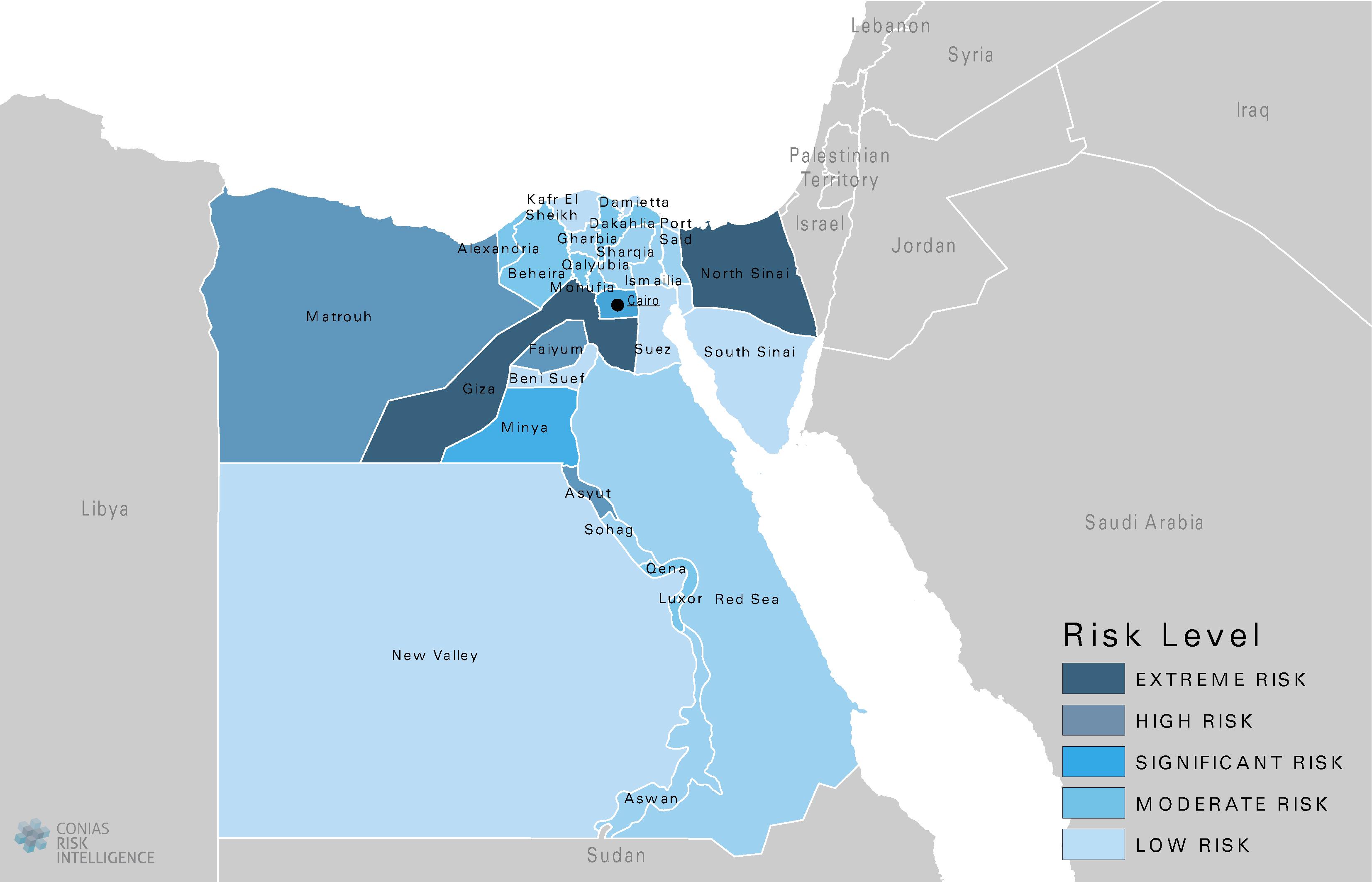 CONIAS Political Risk Maps Ägypten