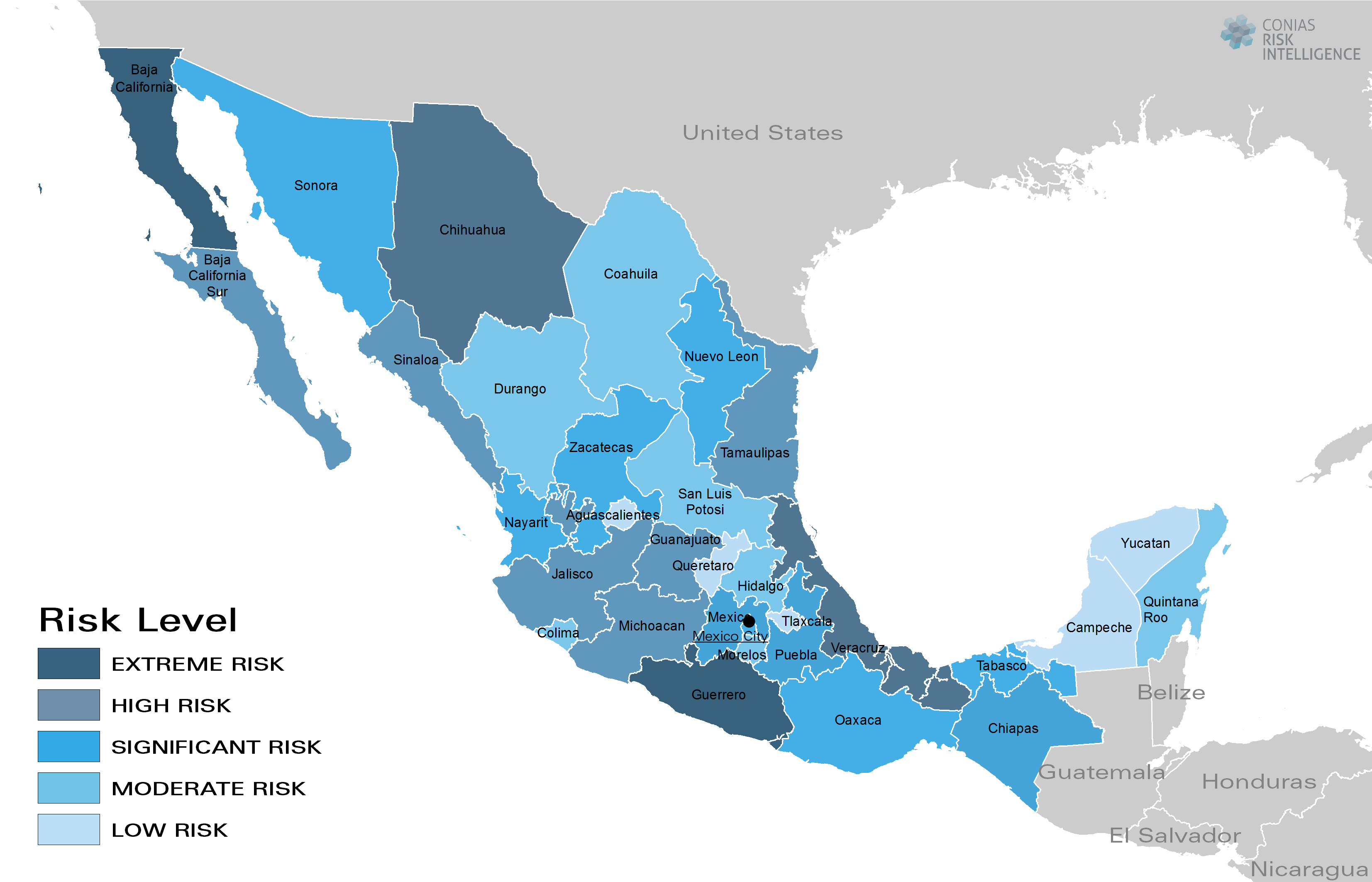 CONIAS Political Risk Map Mexico