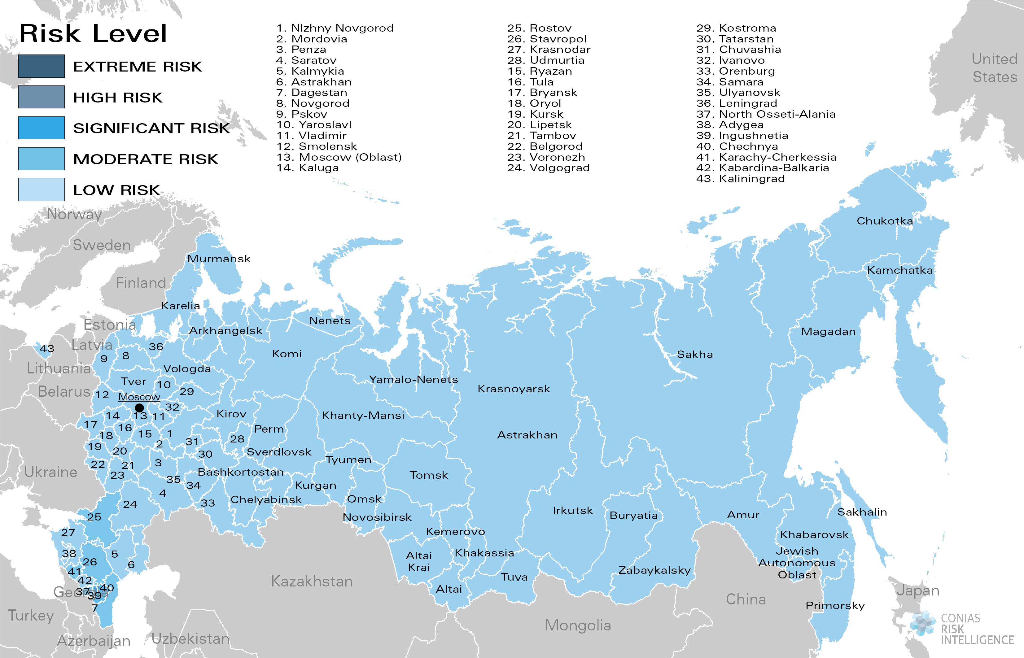 CONIAS Political Risk Maps Russland