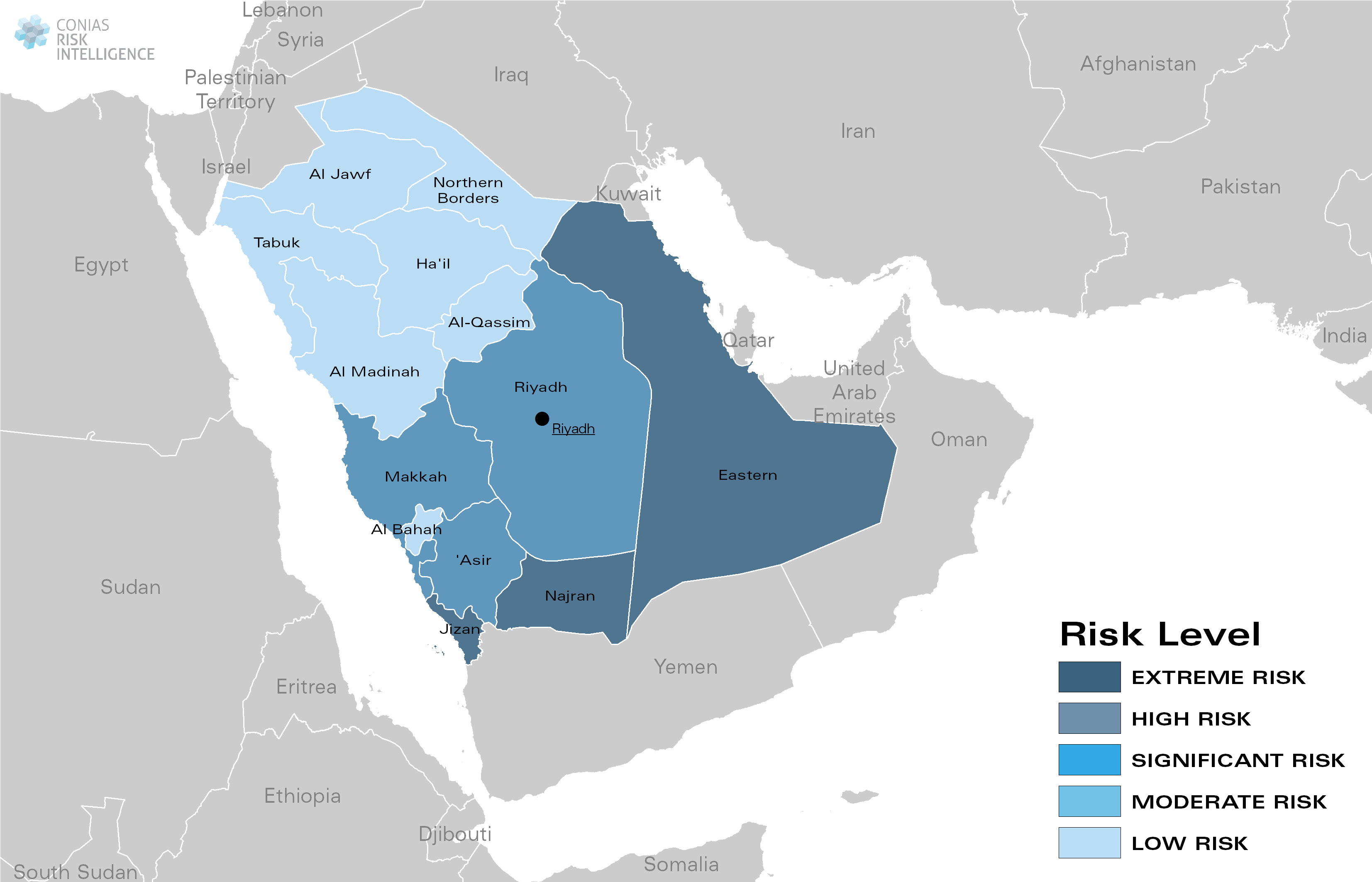 CONIAS Political Risk Maps Saudi-Arabien