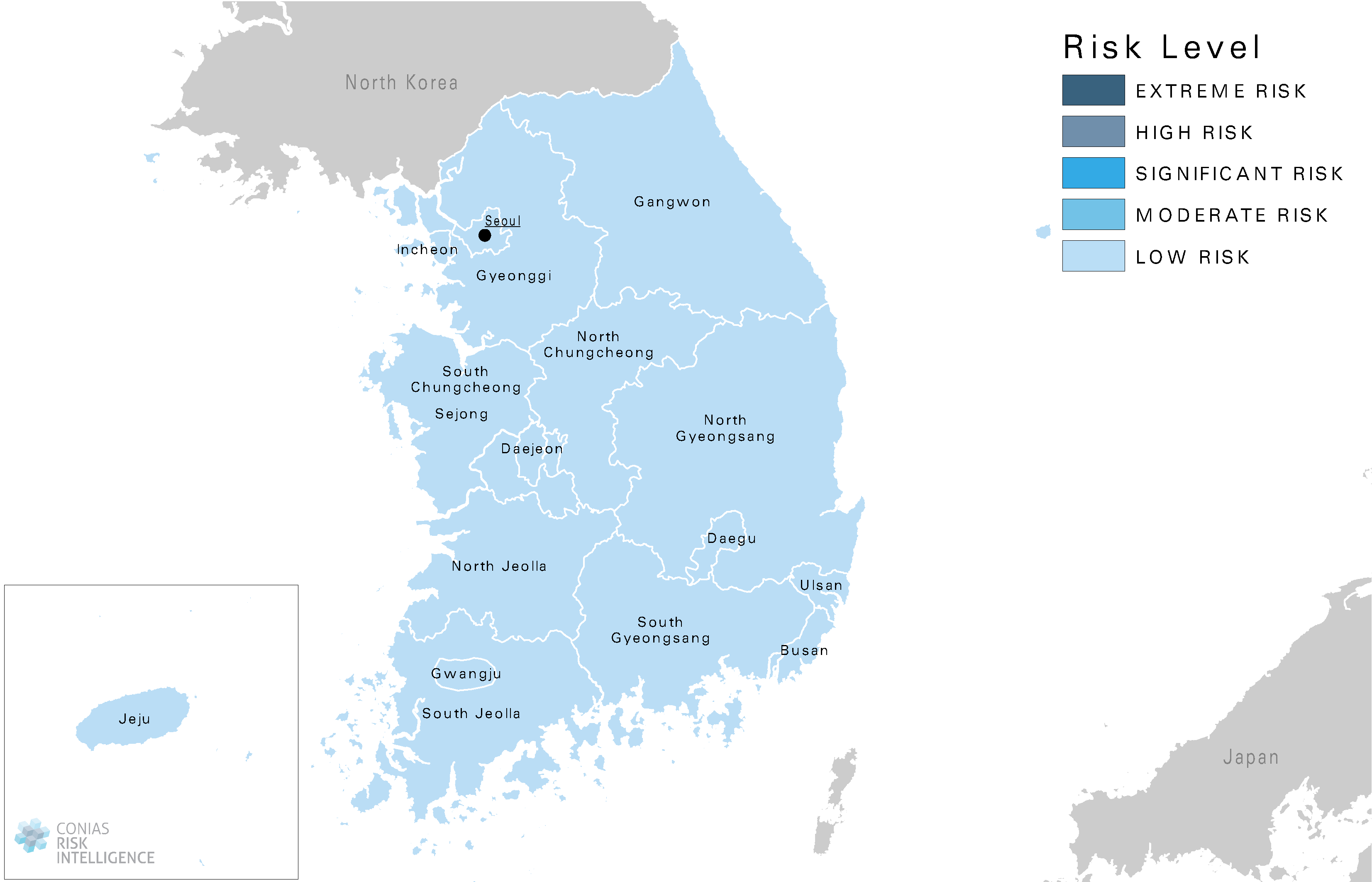 CONIAS Political Risk Map South Korea