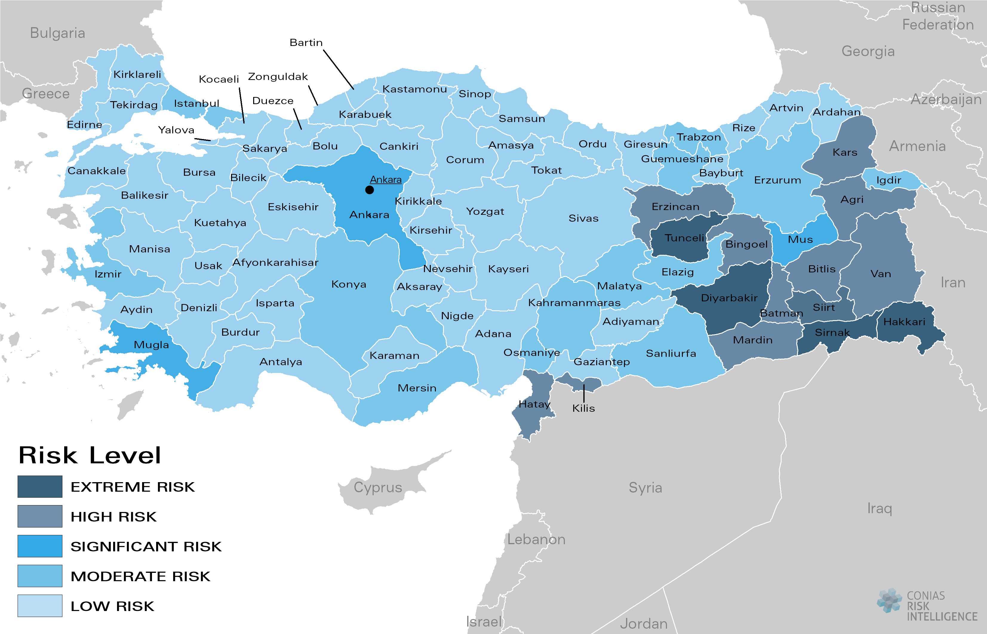CONIAS Political Risk Maps Türkei